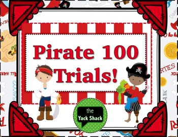 Pirate Themed 100 Trials for Articulation Therapy