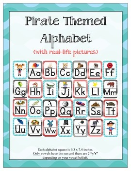 Pirate Themed ABC Printables (w/ letter related pictures)
