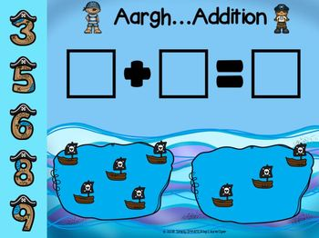 Pirate Themed Addition Activities For GOOGLE CLASSROOM