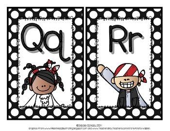 Pirate-Themed Alphabet Headers