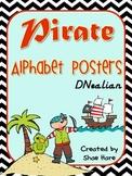 Pirate Themed Classroom Alphabet Posters DNealian Font