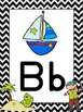 Pirate Themed Alphabet Posters {Ship Treasure Polly Ocean} Zaner Bloser Font
