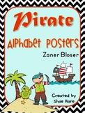 Pirate Themed Classroom Alphabet Posters Zaner Bloser Font