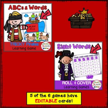 Pirate Themed BUNDLE of Literacy Learning Games