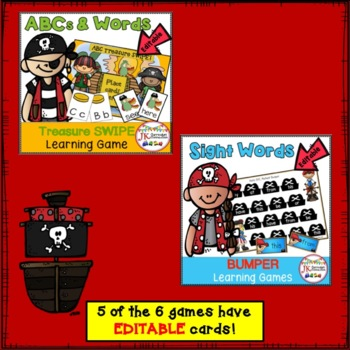 Literacy Learning Games BUNDLE - Pirate Theme