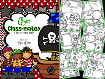 All About Me:  Pirate Themed Back to School Book