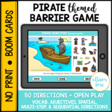 Pirate Themed Barrier Game BOOM Cards™️ Speech Therapy Distance Learning