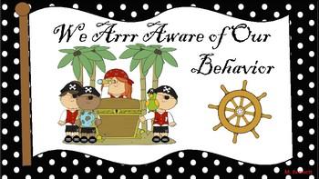 Pirate Themed Behavior Chart