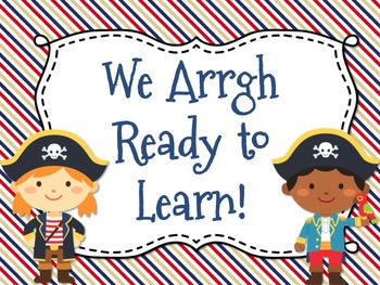 Pirate Themed Behavior Chart *Mini Pennant Banner Chart Header* and Forms