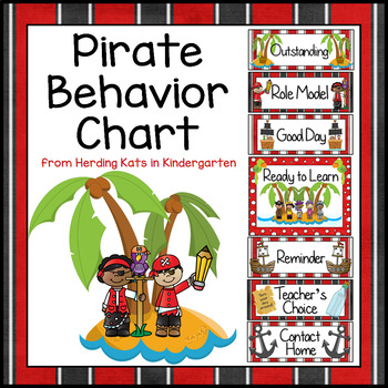 Pirate Themed Behavior Clip Chart