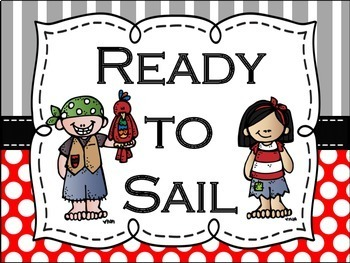 Pirate Themed Behavior Clip Chart: Mix & Match Chalkboard/White Center