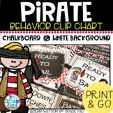 Pirate Themed Behavior Clip Chart: Mix & Match Chalkboard/