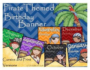 Pirate Themed Birthday Banner