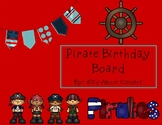 Pirate Themed Birthday Board