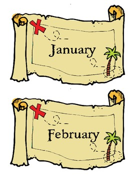 Pirate Themed Birthday Chart By Scrapyard Creations