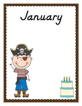 Pirate Themed Birthday Charts