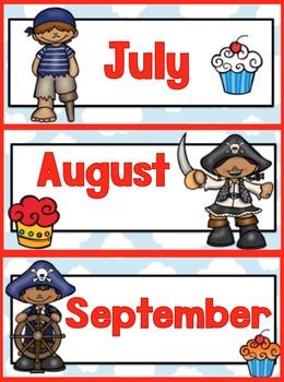 Pirate Themed Birthday Display