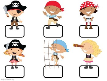 Pirate Themed Birthday Signs