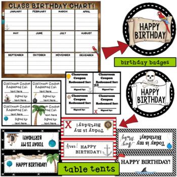 Pirate Birthday-  Editable
