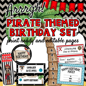 Pirate Birthday-  Editable