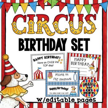 Birthday- Circus Theme