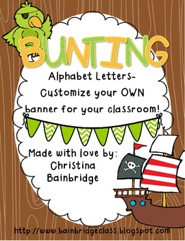 Pirate Themed Buntings- Customize Your Own Banner!