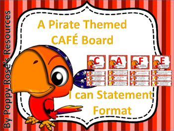 Pirate Themed CAFE Board