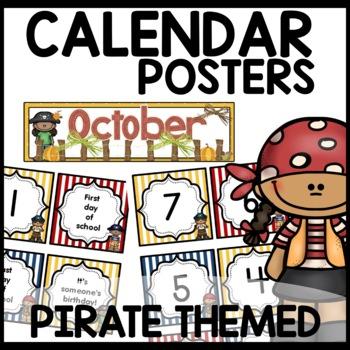 Pirate Themed Calendar