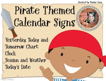 Pirate Themed Calendar FREEBIE
