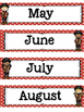 Pirate Themed Calendar Months