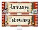 Pirate Themed Calendar, Months, Days of the Week Headers