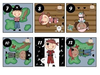 Pirate Themed Calendar Patterns