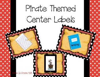 Pirate Themed Center Labels