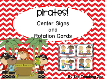 Pirate Themed Center Signs and Rotation Cards