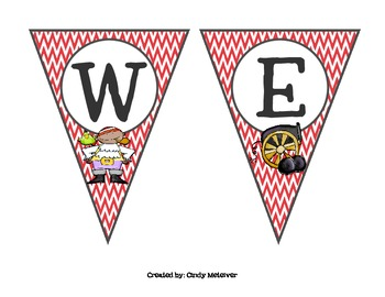 Pirate Themed Chevron Welcome Banner