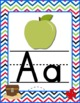 Pirate Themed Chevron X Marks the Spot Alphabet Posters Signs