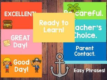 Pirate Themed Classroom Behavior Chart