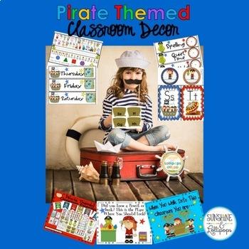 Back to School Classroom Decor : Pirate Themed Decoration Bundle