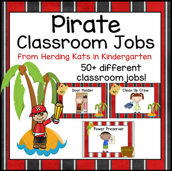 Pirate Themed Classroom Jobs Signs