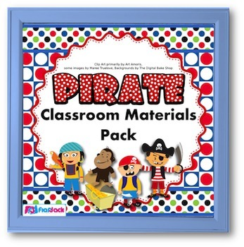 Pirate Themed Classroom Materials Pack