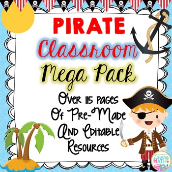 Pirate Theme Classroom Decor - EDITABLE