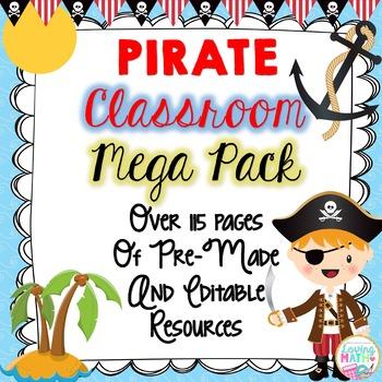 Pirate Theme Classroom Decor - EDITABLE