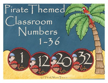 Pirate Themed Classroom Numbers
