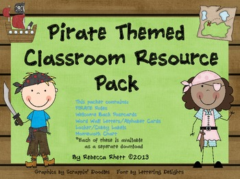 Pirate Themed Classroom Resource Pack