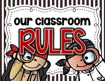 Pirate -Themed Classroom Rules Posters