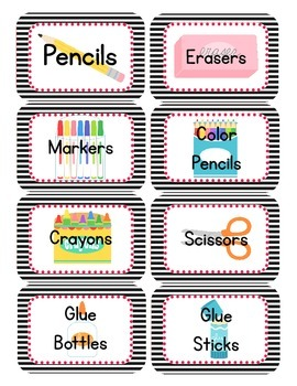 Pirate Themed Classroom Supply Tags