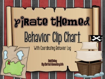 Pirate Themed Clip Chart and Behavior Log: Behavior Managment Tool
