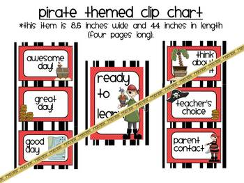 Clip Chart: Pirate Themed