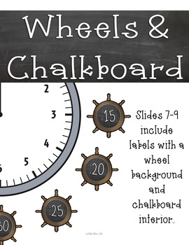 Pirate Themed Clock Labels: Pirate Classroom Theme Decor