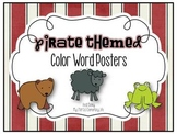 Pirate Themed Color Word Posters